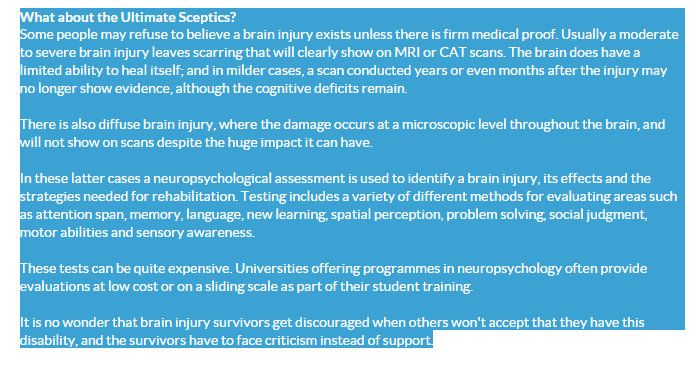 effects of a brain injury