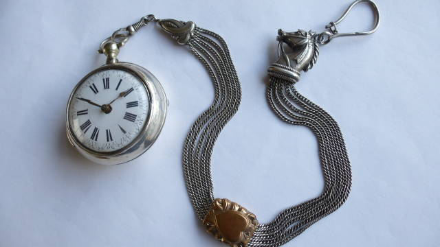 15. BREQUET VERGE FUSEE POCKET WATCH