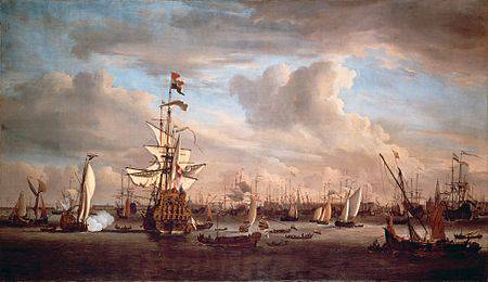 450px-The_IJ_at_Amsterdam_with_the_former_flagship_Gouden_Leeuw_Willem_van_de_Velde_II.jpg