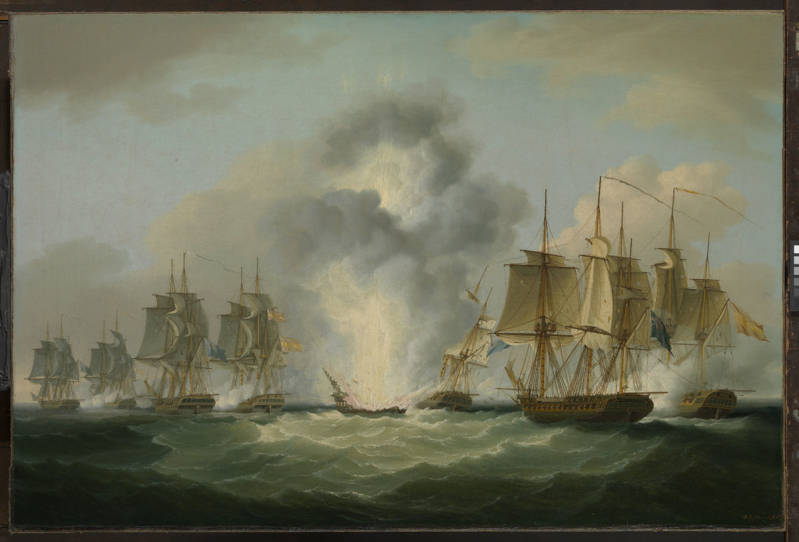 Four_frigates_capturing_Spanish_treasure_ships_5_October_1804_by_Francis_Sartorius_National_Maritime_MuseumUK.jpg