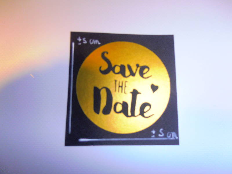 Sticker Save the Date.