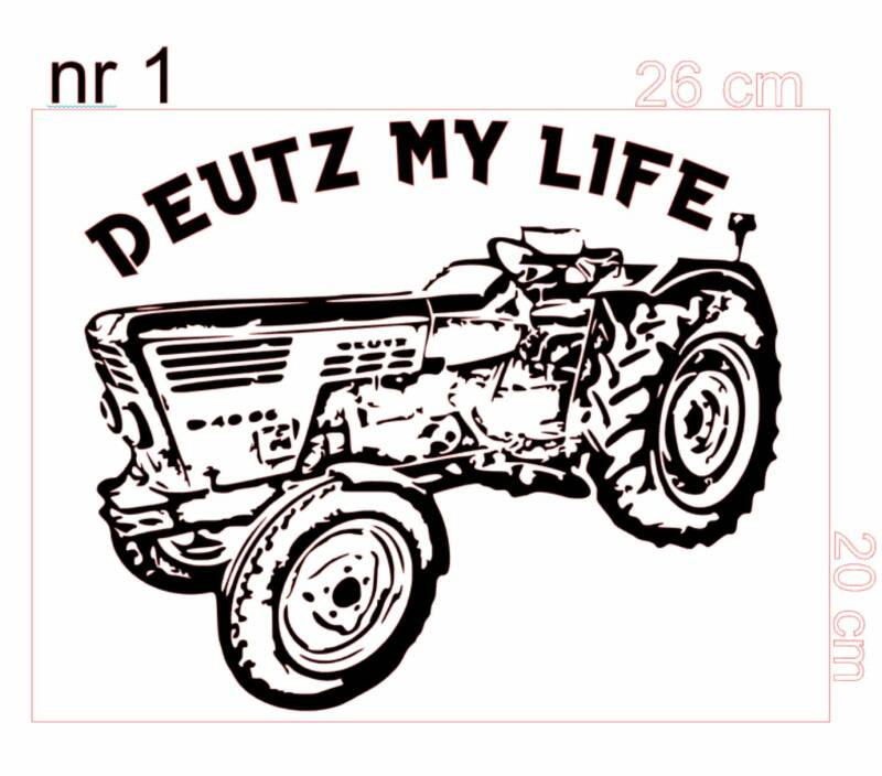 Auto sticker Deutz my life
