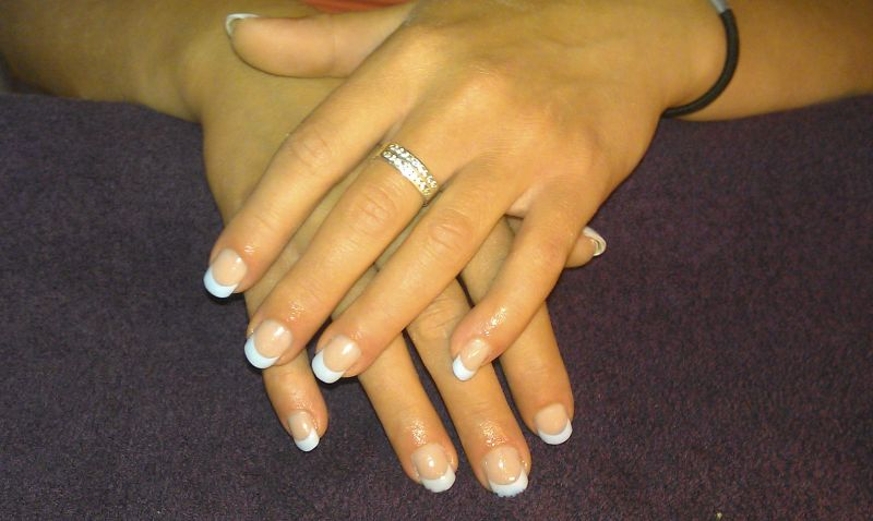 French Manicure Pastel Blue