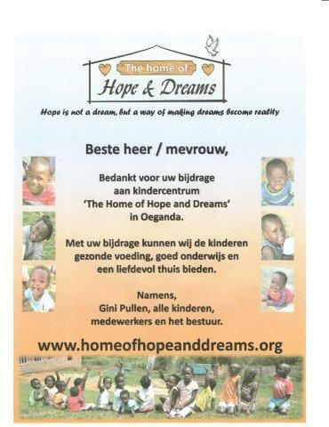 Home of hope dreams for Dream home nl