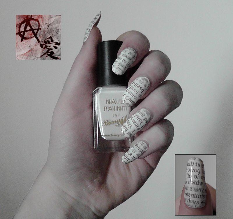 Newspaper Nails Art With Water - NailArts Ideas