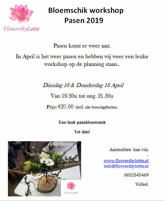 Paasworkshop Donderdag 18 April