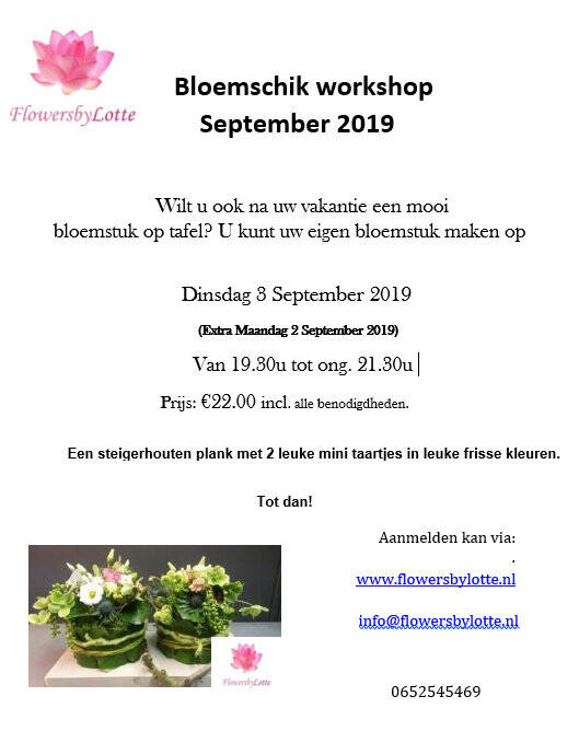 Extra: Maandag 2 September 2019