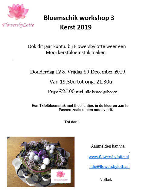 Extra: Kerstworkshop   Vrijdag 20 December