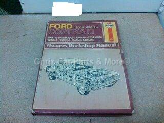 Ford Cortina mk3  Workshop Haynes  1970 t/m 1976