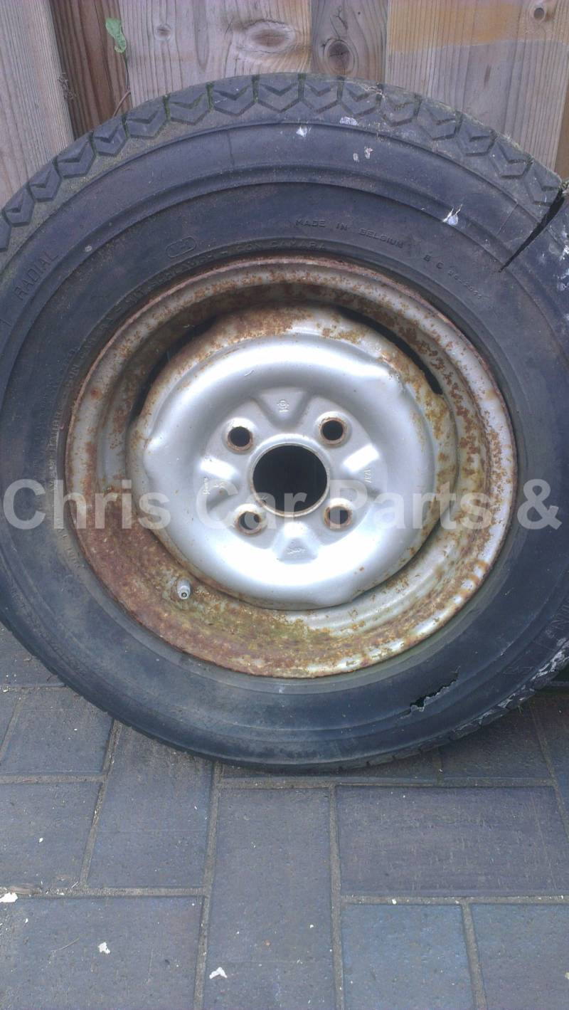 Ford Taunus staal velg 4x108 12 inch FOMOCO