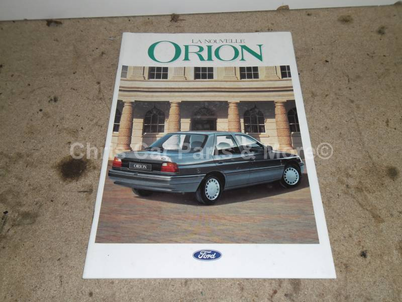 Ford Orion brochure La nouvelle