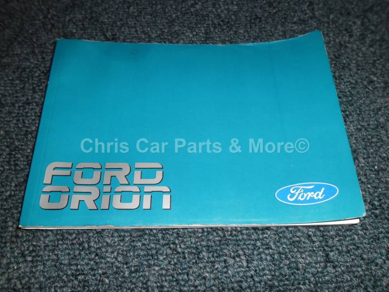 Ford Orion handleiding 1989