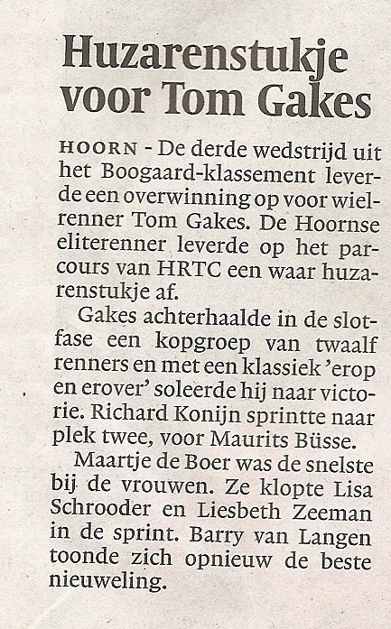 Noord-Hollands Dagblad, 16-05-2009