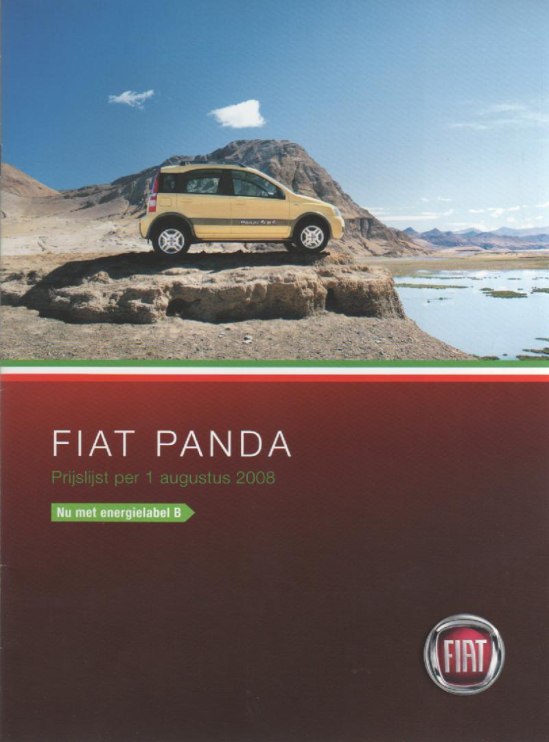 panda mk 2 fiat mijn brochures f autobrochures a. Black Bedroom Furniture Sets. Home Design Ideas