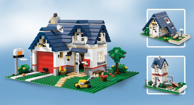 Geparkeerde advertenties for Modernes lego haus