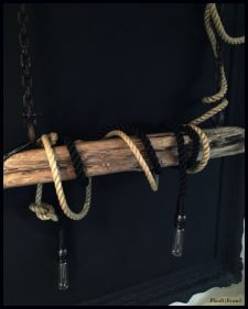 Rope&ChainsDrijfhout lamp