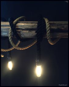 Rope&Chains Drijfhout lamp