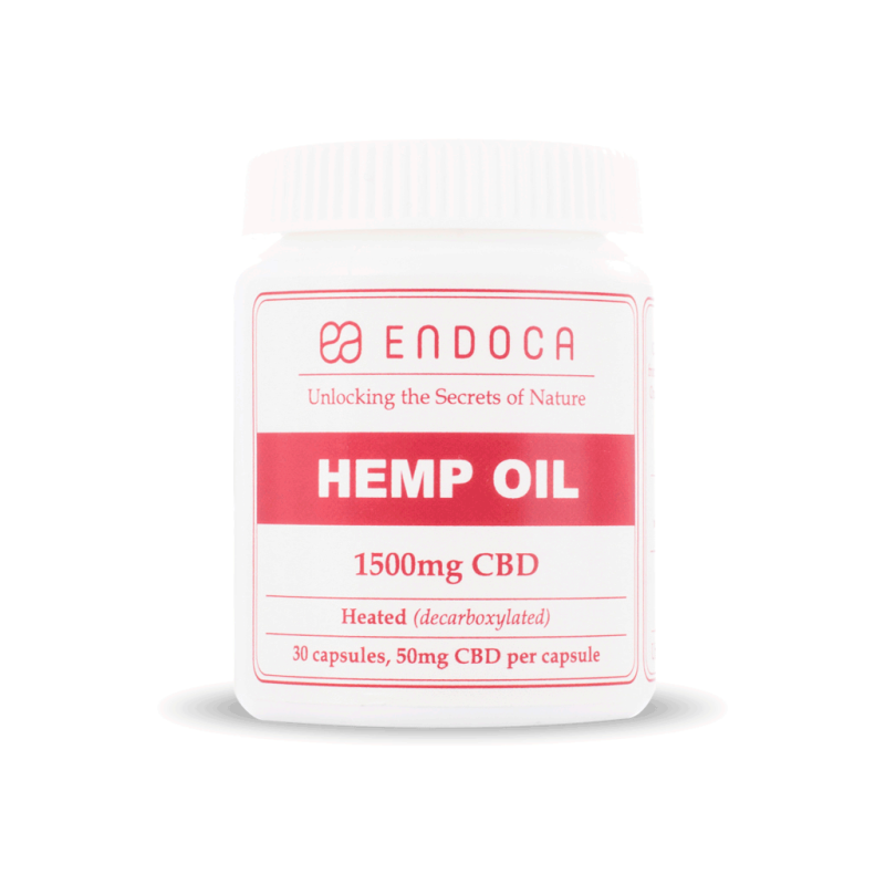 Capsules Hemp Oil Total: 1500mg CBD