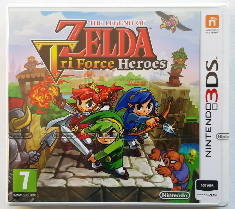 3DS - Legend of Zelda: Tri Force Heroes, The (PAL) factory sealed