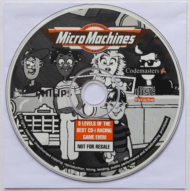 CD-i - Micro Machines - Preview Version (PAL) disc