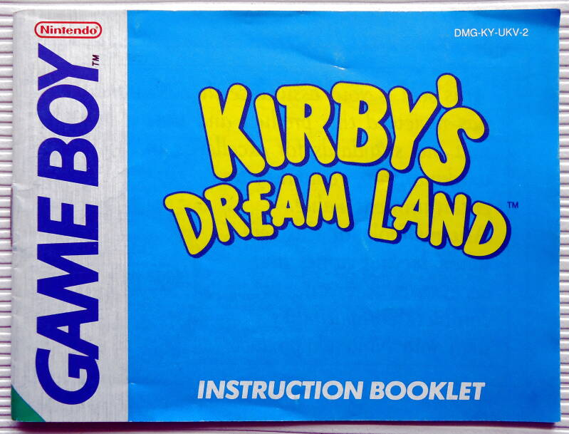 Game Boy - Kirby's Dream Land | instruction booklet (UKV)