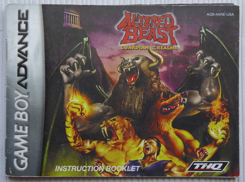 Game Boy Advance - Altered Beast: Guardian of the Realms | instruction booklet (USA)