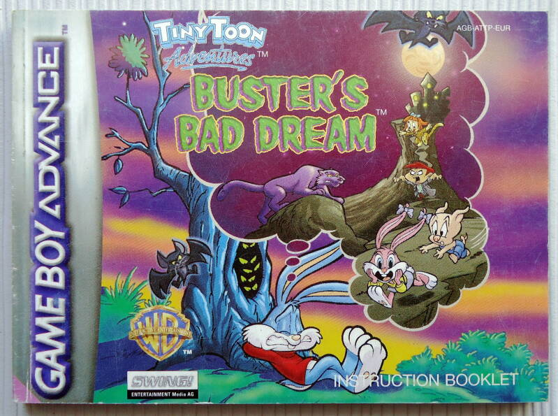 Game Boy Advance - Tiny Toon Adventures: Buster's Bad Dream | instruction booklet (EUR)