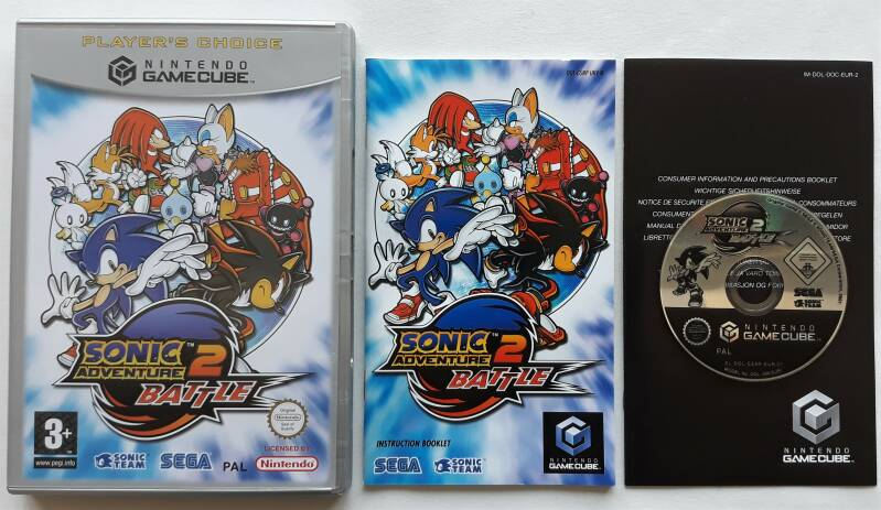 Gamecube - Sonic Adventure 2 Battle (PAL) UKV Player's Choice