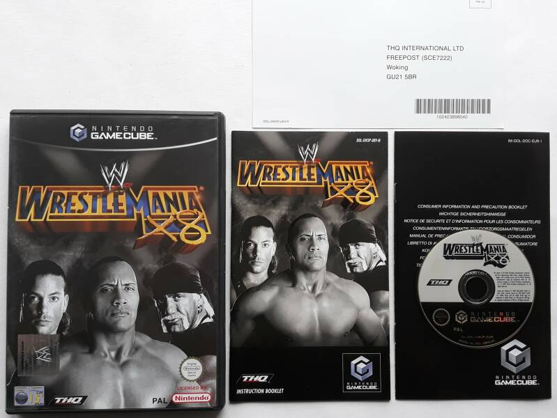 Gamecube - WWE Wrestlemania X8 (PAL) UKV