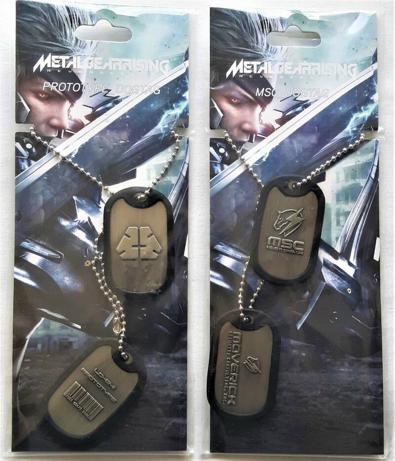 Metal Gear Rising: Vengeance MSC & Prototype Dog Tags (new & unopened)