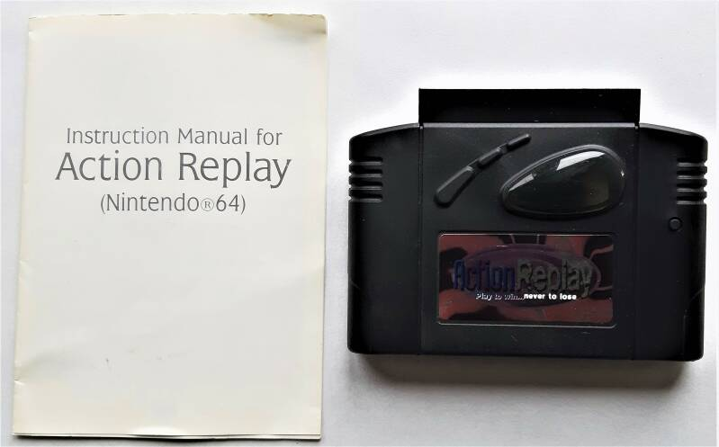 Nintendo 64 - Action Replay v1.11 (PAL) cart with instruction booklet