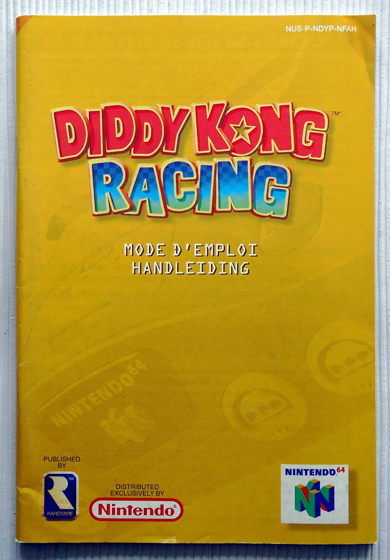 Nintendo 64 - Diddy Kong Racing   instruction booklet (NFAH)