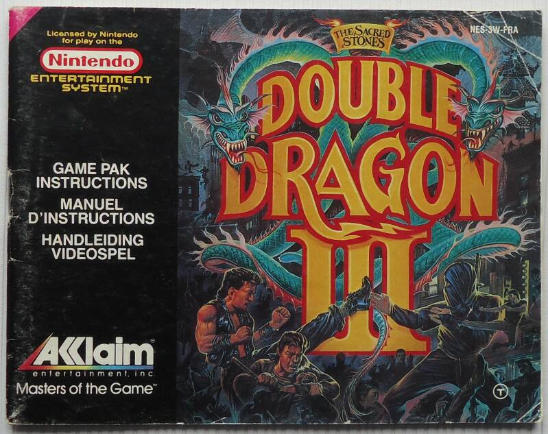 NES - Double Dragon III: The Sacred Stones | instruction booklet (FRA)