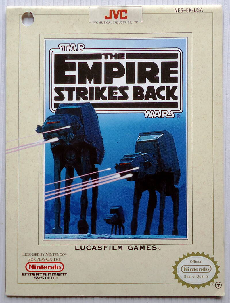 NES - Star Wars: The Empire Strikes Back | instruction booklet (USA) punch hole