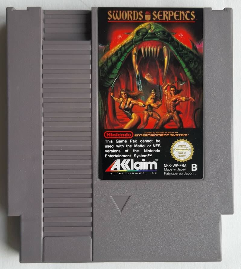 NES - Swords and Serpents (PAL-B) FRA cart *French screen text*