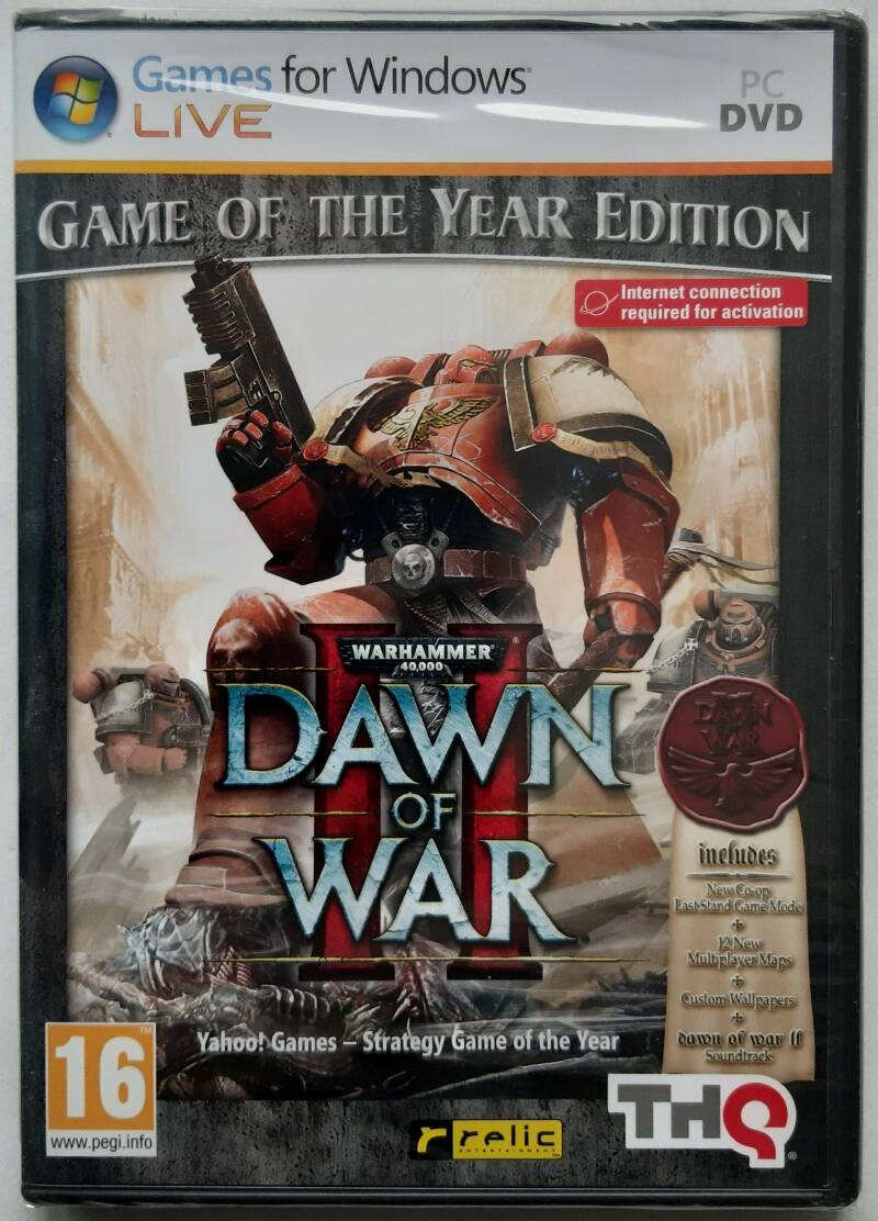 PC - Warhammer 40,000: Dawn of War II - Game of the Year Edition (PAL) factory sealed