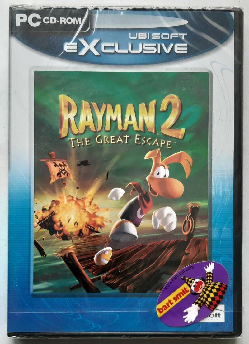PC - Rayman 2: The Great Escape (PAL, Ubi Soft Exclusive) factory sealed