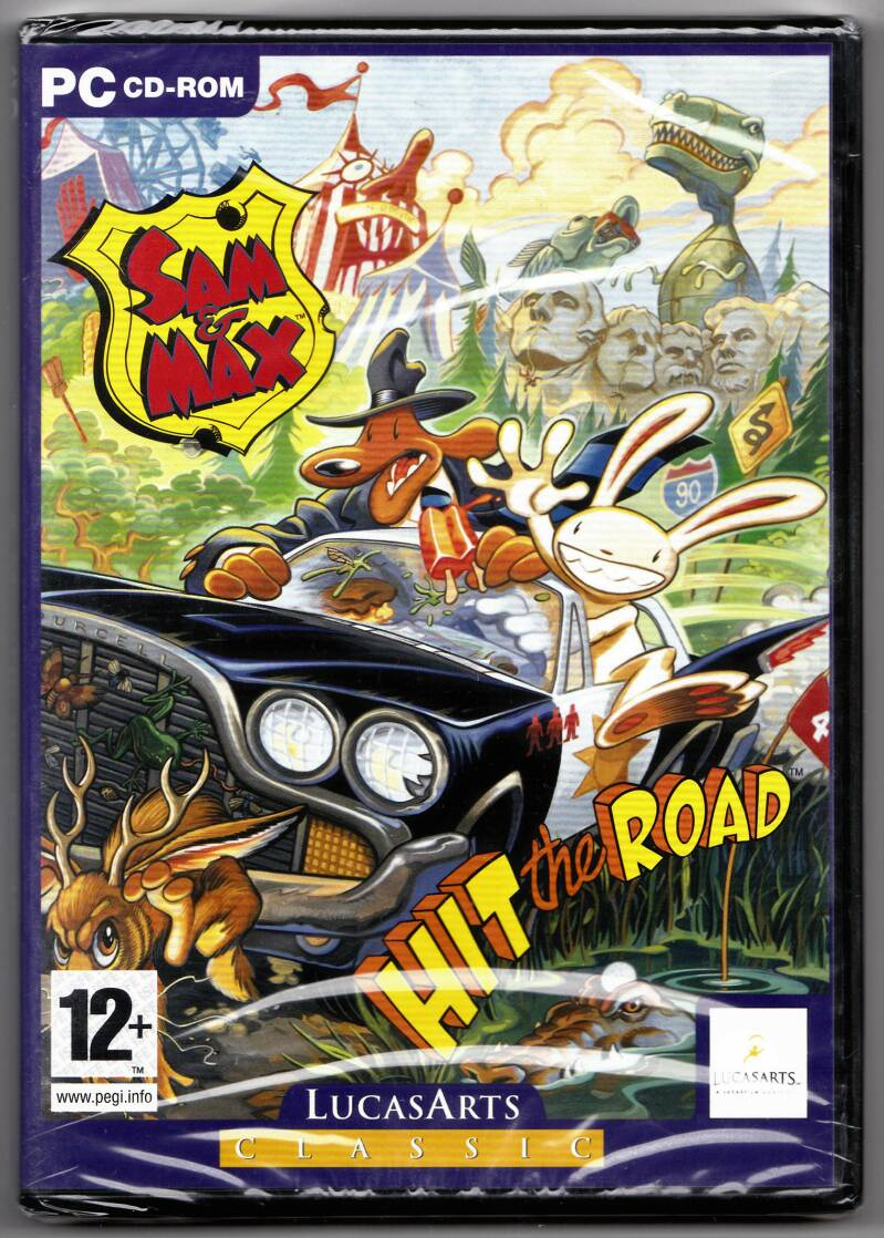 PC - Sam & Max Hit the Road (PAL, LucasArts Classic) factory sealed