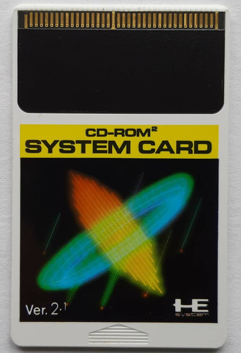 PC Engine - CD-ROM System Card Ver. 2.1 (NTSC-J) HuCARD cart
