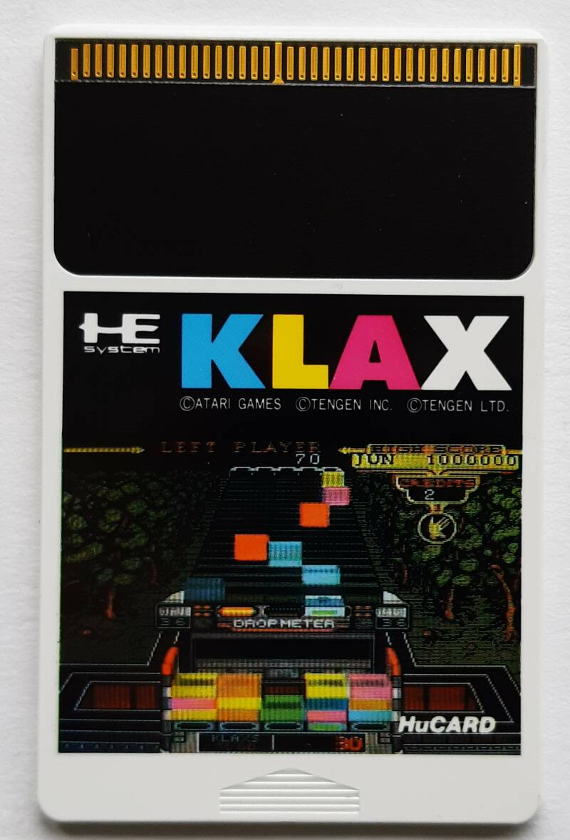 PC Engine - Klax (NTSC-J) HuCARD cart