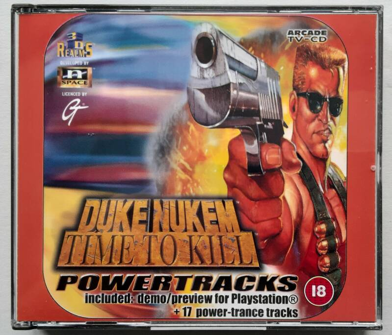 PS1 - Duke Nukem: Time to Kill Demo (PAL) with Power Tracks audio cd (new, not sealed)