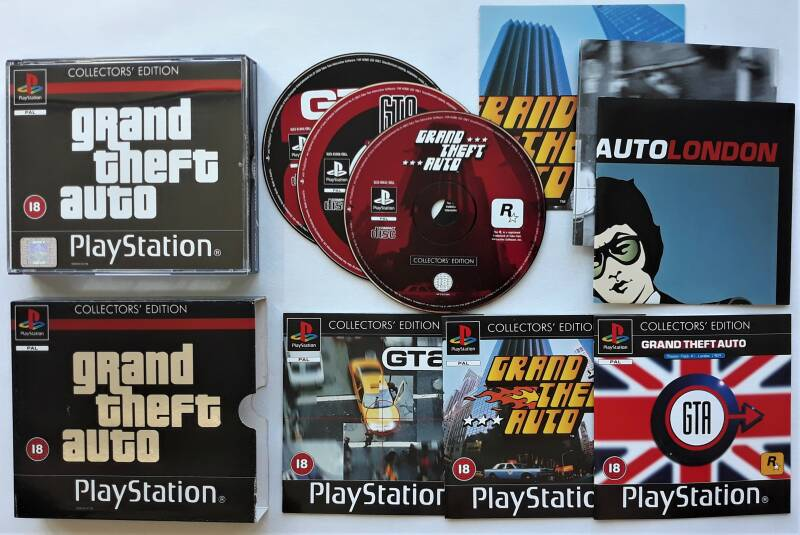 PS1 - Grand Theft Auto: Collector's Edition w/ maps (PAL)