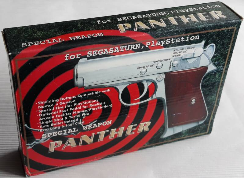 PS1 / Saturn - Light gun Panther Special Weapon (region free) new old stock