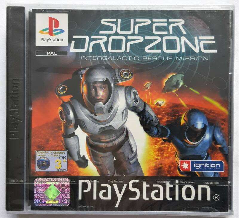PS1 - Super Dropzone: Intergalactic Rescue Mission (PAL) factory sealed