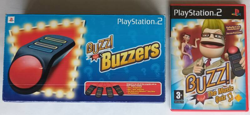 PS2 - Buzz! Buzzers with game (region free)