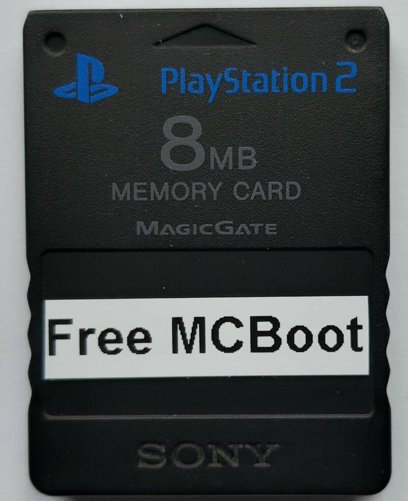 PS2 - Memory card Black with Free McBoot installed