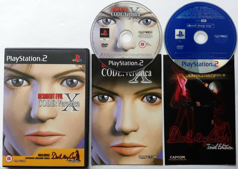PS2 - Resident Evil - Code: Veronica X w/ demo Devil May Cry (PAL)