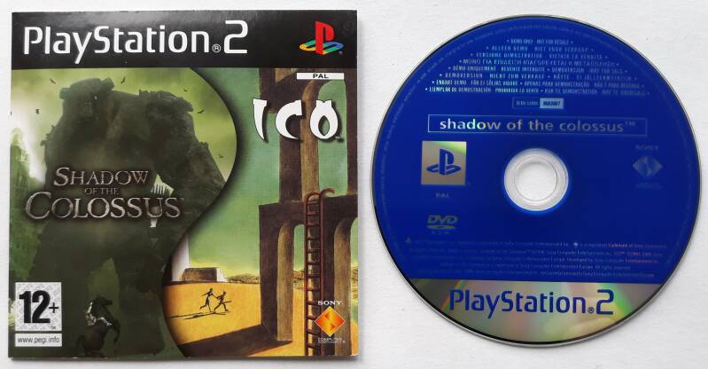 PS2 - Shadow of the Colossus & Ico - Demo (PAL)