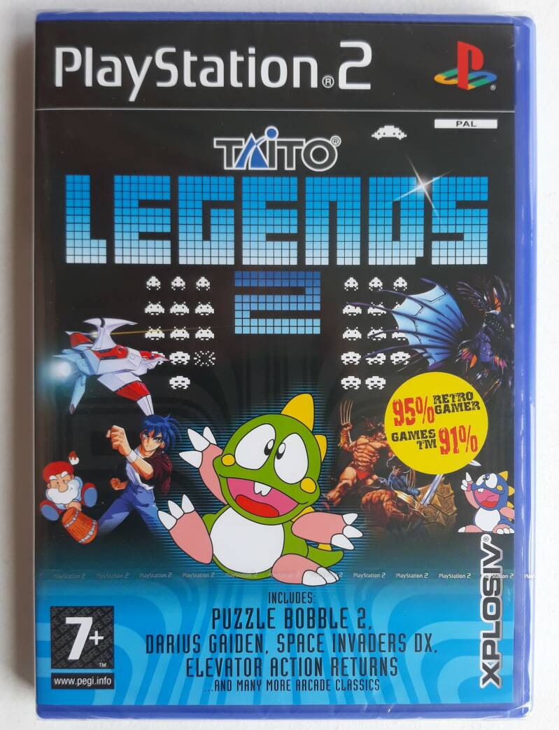 PS2 - Taito Legends 2 (PAL) factory sealed