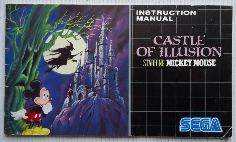 Mega Drive - Castle of Illusion Starring Mickey Mouse | instruction booklet (PAL)